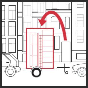 3. Sie laden Ihre Sachen direkt in die dort abgestellte Lagerbox ein.
